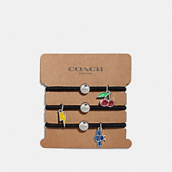 COACH F27334 Cherry Charms Hair Ties MULTICOLOR