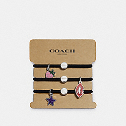 COACH F27335 Strawberry Charms Hair Ties MULTICOLOR