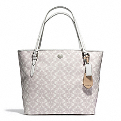 COACH F27350 - PEYTON DREAM C ZIP TOP TOTE SILVER/DOVE/WHITE