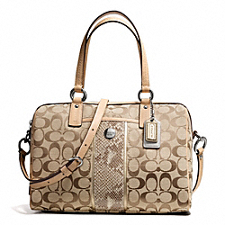 COACH F27364 - SIGNATURE STRIPE PYTHON STRIPE SATCHEL ONE-COLOR