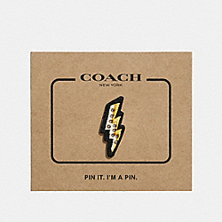 COACH F27372 Lightning Bolt Pin MULTICOLOR