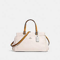 FULTON SATCHEL IN COLORBLOCK - F27420 - CHALK MULTI/SILVER