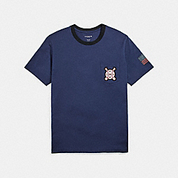COACH F27445 Baseball T-shirt NAVY