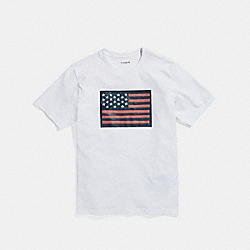 COACH F27446 Flag T-shirt WHITE