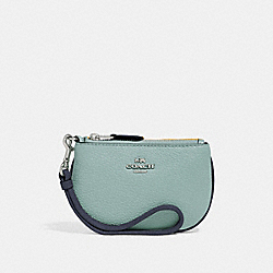 COACH F27479 Coin Case In Colorblock SILVER/BLUE MULTI