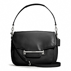 TAYLOR LEATHER FLAP SHOULDER BAG - f27481 - SILVER/BLACK