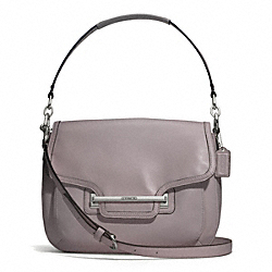 COACH F27481 - TAYLOR LEATHER FLAP SHOULDER BAG SILVER/PUTTY