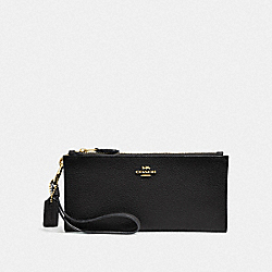 COACH F27495 - DOUBLE ZIP WALLET LI/BLACK