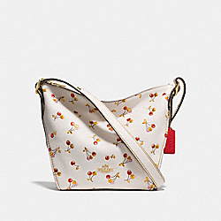 SMALL DUFFLETTE WITH CHERRY PRINT - F27504 - CHALK MULTI/LIGHT GOLD