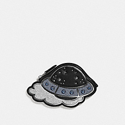 COACH F27533 Ufo Coin Case MULTI/SILVER
