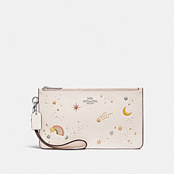 COACH F27534 Crosby Clutch With Space Rivets SILVER/CHALK
