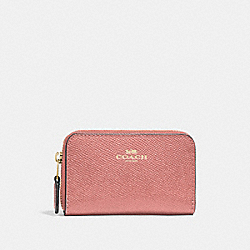 COACH F27569 Zip Around Coin Case MELON/LIGHT GOLD