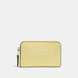 COACH F27569 Zip Around Coin Case SILVER/DAISY