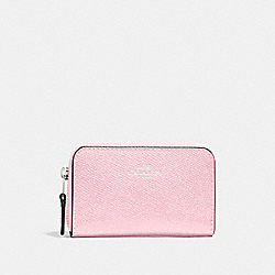 COACH F27569 Zip Around Coin Case PETAL/SILVER