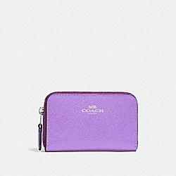COACH F27569 - ZIP AROUND COIN CASE IRIS/SILVER