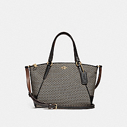 COACH F27574 Mini Kelsey Satchel MILK/BLACK/LIGHT GOLD