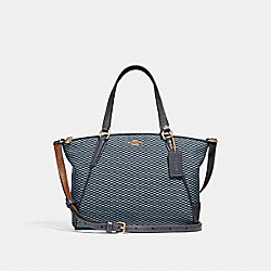 COACH MINI KELSEY SATCHEL - BLUE/MULTI/LIGHT GOLD - F27574