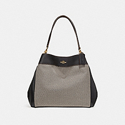 COACH F27575 Lexy Shoulder Bag MILK/BLACK/LIGHT GOLD
