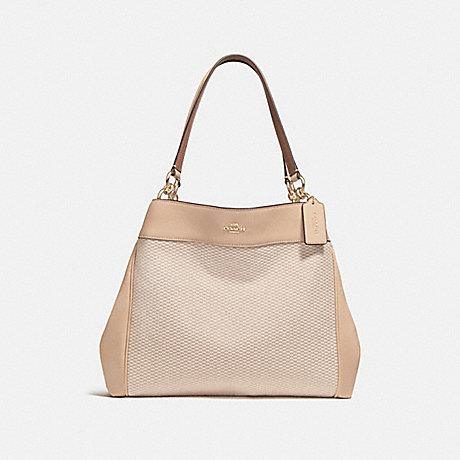 COACH f27575 LEXY SHOULDER BAG MILK/BEECHWOOD/LIGHT GOLD