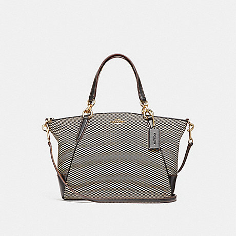 COACH f27576 SMALL KELSEY SATCHEL MILK/BLACK/LIGHT GOLD