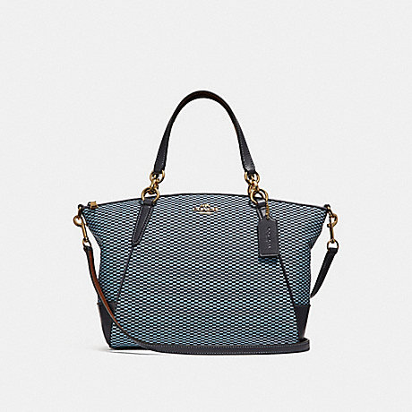 COACH f27576 SMALL KELSEY SATCHEL BLUE/MULTI/LIGHT GOLD