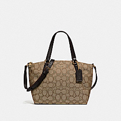 MINI KELSEY SATCHEL - f27580 - LIGHT GOLD/KHAKI