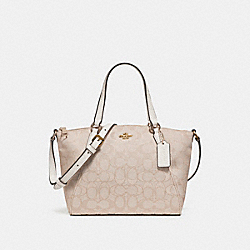 COACH MINI KELSEY SATCHEL - LIGHT KHAKI/CHALK/IMITATION GOLD - F27580