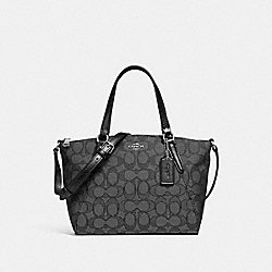 MINI KELSEY SATCHEL - f27580 - BLACK SMOKE/BLACK/SILVER