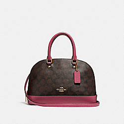 MINI SIERRA SATCHEL - f27583 - LIGHT GOLD/BROWN ROUGE