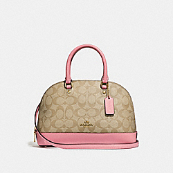 COACH F27583 Mini Sierra Satchel LIGHT KHAKI/VINTAGE PINK/IMITATION GOLD
