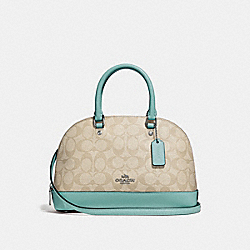 MINI SIERRA SATCHEL IN SIGNATURE CANVAS - f27583 - SVNKA