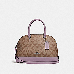 COACH F27583 Mini Sierra Satchel In Signature Canvas KHAKI/JASMINE/SILVER