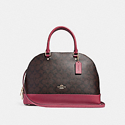 COACH F27584 Sierra Satchel LIGHT GOLD/BROWN ROUGE