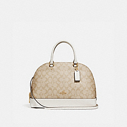 COACH SIERRA SATCHEL - LIGHT KHAKI/CHALK/IMITATION GOLD - F27584