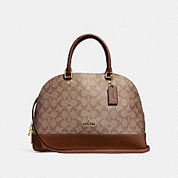 COACH F27584 - SIERRA SATCHEL IN SIGNATURE CANVAS KHAKI/SADDLE 2/LIGHT GOLD