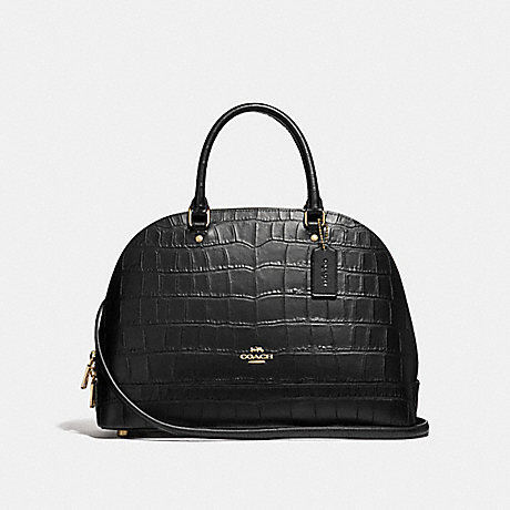 COACH F27586 SIERRA SATCHEL BLACK/LIGHT-GOLD