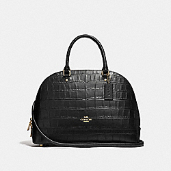 COACH F27586 Sierra Satchel BLACK/LIGHT GOLD
