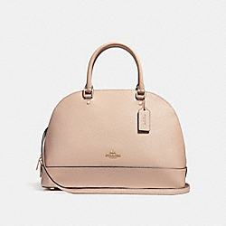 SIERRA SATCHEL - f27590 - LIGHT GOLD/NUDE PINK