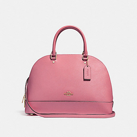 COACH f27590 SIERRA SATCHEL LIGHT GOLD/ROUGE