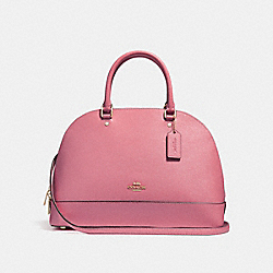 SIERRA SATCHEL - f27590 - LIGHT GOLD/ROUGE