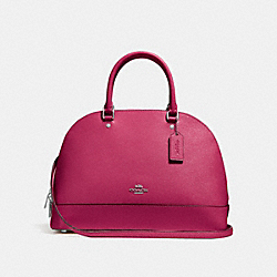 COACH SIERRA SATCHEL - SILVER/HOT PINK - F27590