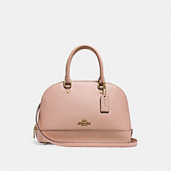 MINI SIERRA SATCHEL - f27591 - LIGHT GOLD/NUDE PINK