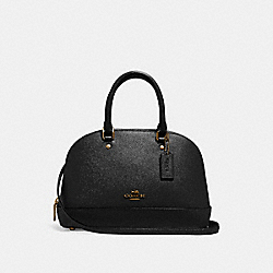 COACH F27591 Mini Sierra Satchel BLACK/LIGHT GOLD