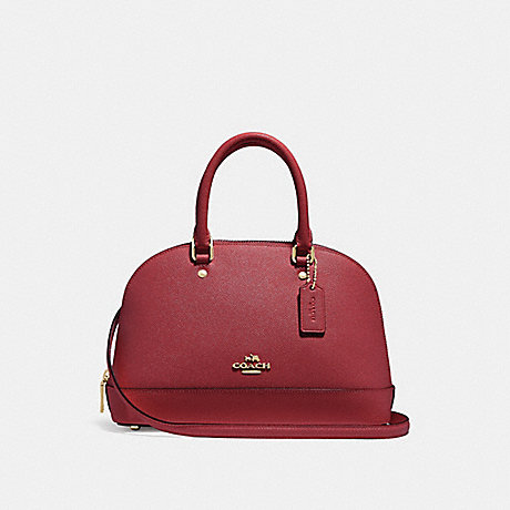 COACH F27591 MINI SIERRA SATCHEL CHERRY-/LIGHT-GOLD