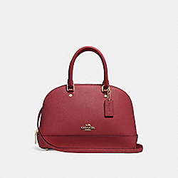 COACH F27591 - MINI SIERRA SATCHEL CHERRY /LIGHT GOLD