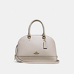 MINI SIERRA SATCHEL - f27591 - CHALK/IMITATION GOLD