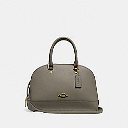 COACH F27591 Mini Sierra Satchel MILITARY GREEN/GOLD