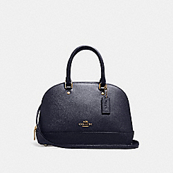 MINI SIERRA SATCHEL - F27591 - MIDNIGHT/GOLD