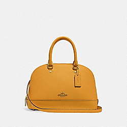 MINI SIERRA SATCHEL - F27591 - MUSTARD YELLOW/GOLD