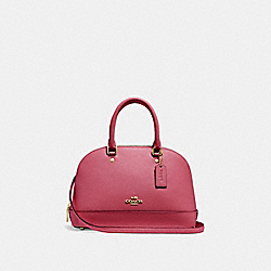 MINI SIERRA SATCHEL - F27591 - ROUGE/GOLD